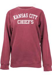 Kansas City Chiefs Womens Crimson Comfort Colors Crew Sweatshirt