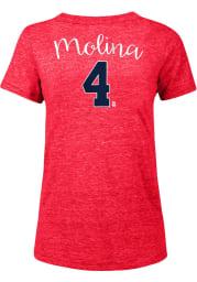 Yadier Molina St Louis Cardinals Womens Triblend Player T-Shirt