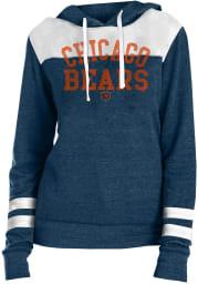 Chicago Bears Womens Navy Blue Tri Blend Hooded Sweatshirt