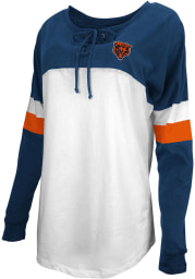 Chicago Bears Womens White Athletic LS Tee
