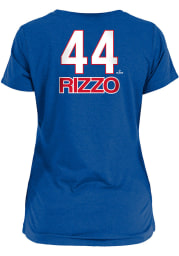 Anthony Rizzo Chicago Cubs Womens Blue Brushed Player T-Shirt
