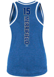 Whit Merrifield Kansas City Royals Womens Blue Binding Player Tank Top