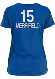 Whit Merrifield Kansas City Royals Womens Blue Brushed Player T-Shirt