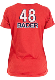 Harrison Bader St Louis Cardinals Womens Red Brushed Player T-Shirt