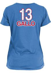 Joey Gallo Texas Rangers Womens Light Blue Brushed Player T-Shirt