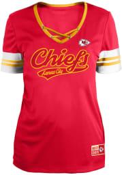 Kansas City Chiefs Womens Lace Up Fashion Football Jersey - Red