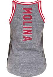 Yadier Molina St Louis Cardinals Womens Grey Flocked Tri-Blend Player Tank Top