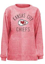 Kansas City Chiefs Womens Red Cozy Crew Sweatshirt