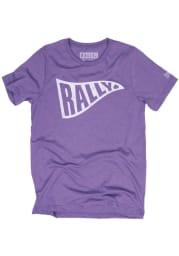 Rally Purple Pennant Short Sleeve T Shirt