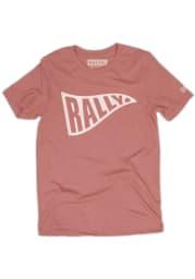 Rally Pink Pennant Short Sleeve T Shirt