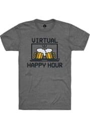 Rally Heather Graphite Virtual Happy Hour SS Fashion Tee