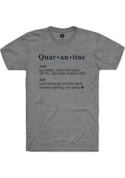 Rally Grey Quarantine Definition Short Sleeve T Shirt