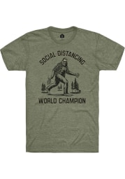 Rally Military Green Social Distancing World Champ Short Sleeve T Shirt