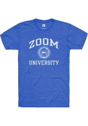 Rally Heather Royal Zoom University Short Sleeve T Shirt