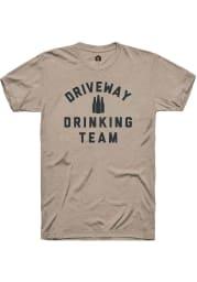 Rally Heather Tan Driveway Drinking Team Short Sleeve T Shirt