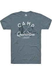 Rally Heather Slate Camp Quarantine Short Sleeve T Shirt