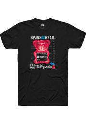 Michi-Gummies Spare The Bear Black Short Sleeve T-Shirt