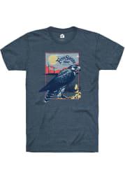 Free State Brewing Co. Navy Kansas Landscape Short Sleeve T-Shirt