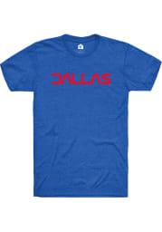 Dallas Royal Typeface Wordmark Short Sleeve T-Shirt