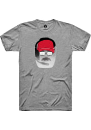 Kansas City Dark Heather Grey Face Shield Short Sleeve T-Shirt