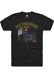 Primanti Bros. Building Sketch Black Short Sleeve T-Shirt