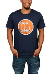 Made In Detroit Detroit Navy Blue Shifter Short Sleeve T Shirt