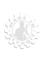 Made In Detroit Detroit Made In Detroit White 6X6 Auto Decal - White