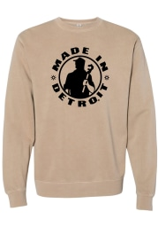 Made In Detroit Detroit Mens Circle Icon Made in Long Sleeve Crew Sweatshirt