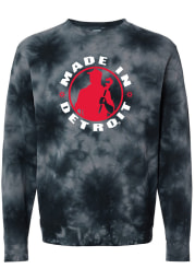 Made In Detroit Detroit Mens Black Circle Icon Made in Long Sleeve Crew Sweatshirt