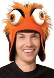 Gritty Philadelphia Flyers Orange Mascot Trapper Mens Knit Hat