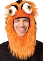 Gritty Philadelphia Flyers Orange Mascot Ski Mask Mens Knit Hat