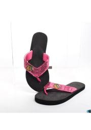 Chicago Blackhawks Sequin Womens Flip Flops