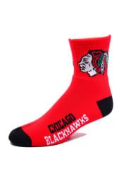 Chicago Blackhawks Logo Name Youth Quarter Socks