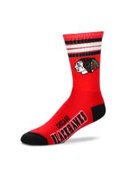 Chicago Blackhawks 4 Stripe Deuce Mens Crew Socks
