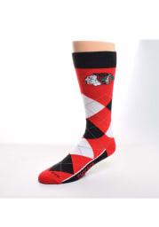 Chicago Blackhawks Argyle Zoom Mens Argyle Socks