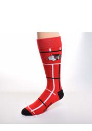 Chicago Blackhawks Square Stripe Mens Dress Socks