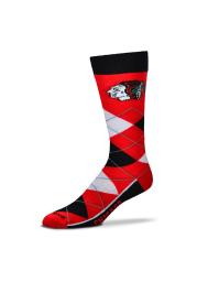 Chicago Blackhawks Calf Logo Mens Argyle Socks