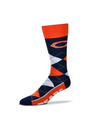 Chicago Bears Calf Logo Mens Argyle Socks