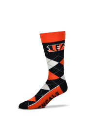 Cincinnati Bengals Team Mens Argyle Socks