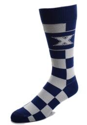 Xavier Musketeers Jumb Check Mens Dress Socks