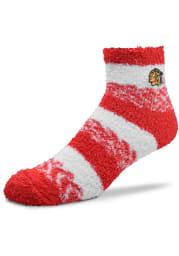 Chicago Blackhawks Stripe Womens Quarter Socks