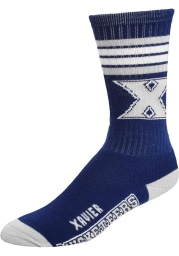 Xavier Musketeers 4 Stripe Deuce Mens Crew Socks