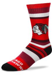 Chicago Blackhawks Rainbow Stripe Mens Crew Socks