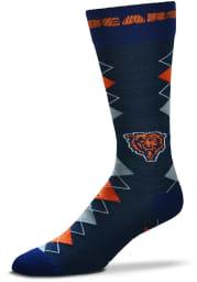 Chicago Bears Fan Nation Mens Argyle Socks