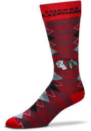 Chicago Blackhawks Fan Nation Mens Argyle Socks