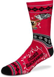 Chicago Blackhawks 2019 Ugly Sweater Mens Crew Socks