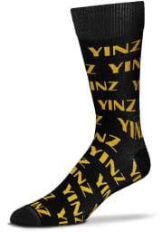 Pittsburgh Yinz Allover Mens Dress Socks