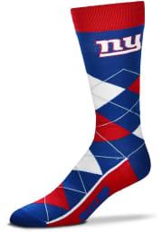 New York Giants Team Logo Mens Argyle Socks