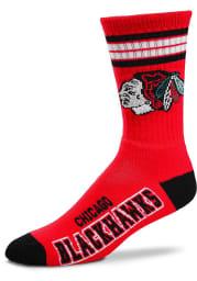 Chicago Blackhawks 4 Stripe Deuce Youth Quarter Socks