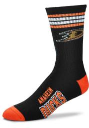 Anaheim Ducks 4 Stripe Deuce Mens Crew Socks